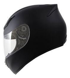 Duke Helmets DK-120 Full Face Motorcycle Helmet, Medium, Matte Black
