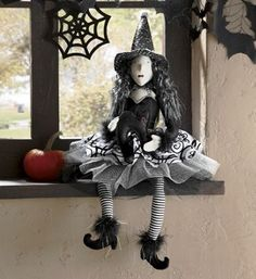 """Beulah the Witch $40  18"""" h, sitting."""