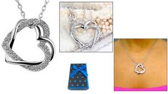 60% off 18K White Gold Plated Heart Necklace ($8 instead of $20)