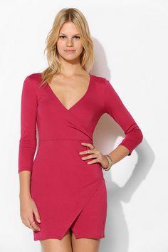 Sparkle & Fade Surplice Bodycon Dress