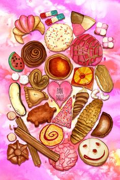 Fast recipes # café café y pan dulce, how to make pan dulce, keto pan d . Mexican Sweet Breads, Mexican Bread, Mexican Snacks, Mexican Candy, Mexican Food Recipes, Mexican Stuff, Mexico Wallpaper, Food Wallpaper, Iphone Wallpaper