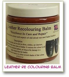 Leather Re-Colouring Balm ¦ Leather Cleaning ¦ Leather Conditiner
