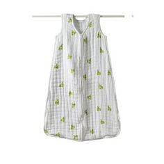 aden + anais Cozy Slumber Muslin Four Layer Sleeping Bag, mod about frogs