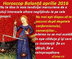 diane.ro: Horoscop Balanţă aprilie 2016 Baseball Cards, Astrology