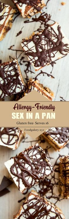 ALLERGY-FRIENDLY SEX IN A PAN Spicy Recipes, Cake Recipes, Vegan Recipes, Dessert Recipes, Cooking Recipes, Recipes Dinner, Drink Recipes, Peanut Butter Blondies Recipe, 7 Up Cake