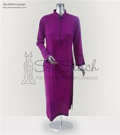 SS6826 Malai Fabric This plain kurti with shairwani collar & buttons shirt flaunts life in decency.