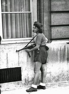 18 year old fighter during the liberation of Paris, 1944 France. 18 year old fighter during the liberation of Paris, 1944