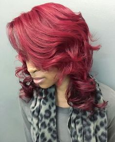 Lovely red ombre @salonpk - http://community.blackhairinformation.com/hairstyle-gallery/relaxed-hairstyles/lovely-red-ombre-salonpk/