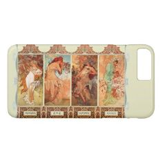 Alphonse Mucha Four Seasons Art Nouveau iPhone 8 Plus/7 Plus Case - summer gifts season diy template ideas