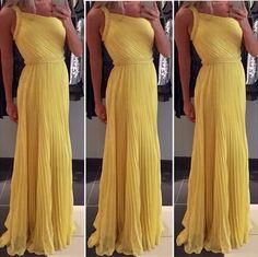 Loja Twins vestido de festa amarelo