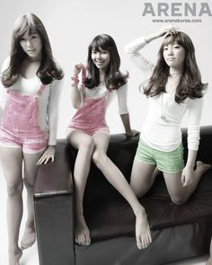 """Tiffany , Sooyoung & Taeyeon during their """"Gee"""" days! omg @ Sooyoung's legs! :O"""