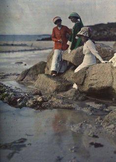Gustave Gain, Plage de Diélette, Flamanville (Manche), circa 1920