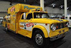Don Prudhomme's restored race cars and race car transporters for the Snake and Mongoose funny cars