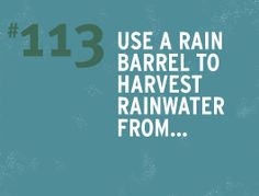 many many water-saving ideas  http://wateruseitwisely.com/100-ways-to-conserve/  We want a water-collection system, rainwater and grey-water, when we get a house of our own.