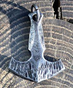 MJOLNIR, geschmiedetem Stahl Thors Hammer, Anhänger