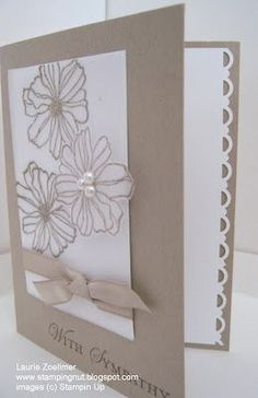 pretty card (in and out) from Laurie's Stampin' Spot--using secret garden: