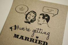 1950's retro wedding invitation