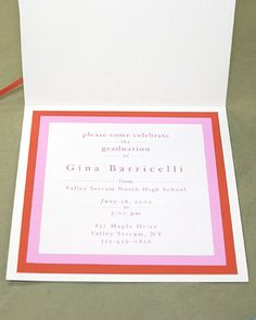 Graduation Tassel Invitation