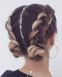 Braids 763289836832417177 - 63 Charming Braided Hairstyles bestbraidedhairstyles braidedhairstyleideas br… – Fitness GYM – 63 Charming Braided Hairstyles – Source by Cool Braid Hairstyles, Pretty Hairstyles, Fashion Hairstyles, Festival Hairstyles, Prom Hairstyles, Two Buns Hairstyle, Hairstyle Ideas, Ethnic Hairstyles, New Year Hairstyle