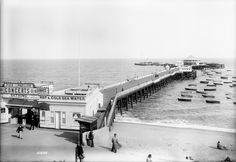 circa 1904  Pier and paddle steamers, Clacton-on-Sea, Essex