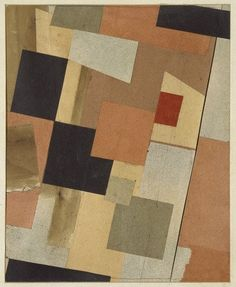 Kurt Schwitters. Mz. 252. Colored Squares. 1921