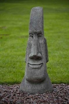 #Large Easter #island Stone Head   #garden Moai   Easter #island Head