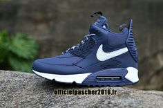 d21699a2fa6cd Officiel Nike Air Max 90 Sneakerboot Winter Chaussures Nike Basketball Pas  Cher Pour Homme Bleu - Blanc