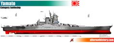 Upgraded Yamato battleship in the century by alternathistory on DeviantArt Yamato Battleship, Military Drawings, Imperial Japanese Navy, Us Navy Ships, Tank Destroyer, Naval History, Aircraft Carrier, War Machine, World War Ii
