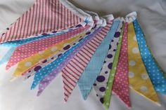 Pastel Checks Stripes Spots and Stripes bunting for hire, from per metre for 4 day hire period. Quality fabric bunting handmade in Chester, Fabric Bunting, Chester, Period, Pastel, Stripes, Colours, Decorations, Queen, Handmade