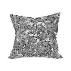 Basic Bouquet Outdoor Throw Pillow