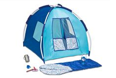 Blue Camping Set | Our Generation Dolls (i have this!) compare to AG- almost same quality waaaaaaaaaay cheaper