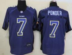 Nike Minnesota Vikings #7 Christian Ponder 2013 Drift Fashion Purple Elite Jersey