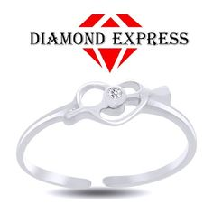 """Brilliant Round Cut Accent 14K Gold Heart Toe Ring """"Mother\'s Day Gift"""". Starting at $1"""