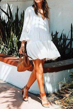 Likes, 228 Comments - Alexandra Pereira ( Dresses For Teens, Casual Dresses For Women, Mini Dresses, Shift Dresses, Dress Casual, Casual Outfits, Dresses Dresses, Alexandra Pereira, Beautiful Casual Dresses