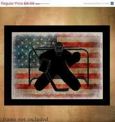 Vacation Sale Ice Hockey USA Flag Dictionary Art by Lexiconograph
