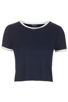 Contrast Trim Cropped Tee