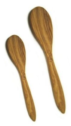 """Set of 2 - Olive Wood Solid Spoon, Olivewood Wooden Utensil, 8"""" and 11"""" ChefLand http://www.amazon.com/dp/B00HUBC2C6/ref=cm_sw_r_pi_dp_96z8wb01H21R3"""