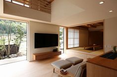 Gorgeous 40 Rustic Apartments Design Ideas With Japanese Interior Style To Have Japanese Interior Design, Japanese Home Decor, Home Interior Design, Interior Architecture, Living Room Japanese Style, Townhouse Designs, Lounge Design, Apartment Design, Minimalist Home
