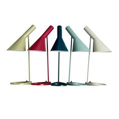 AJ Table lamp designed by Arne Jacobsen. Many colors available.