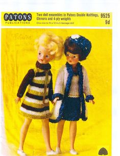 PDF Vintage Knitting Pattern for Sindy/Barbie Doll  by heyjude6459