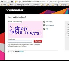 CAPTCHA injection attack.