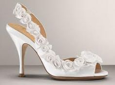 white open toe with roses