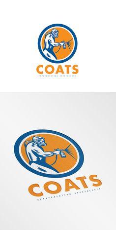 Coats Spray Painting Logo by patrimonio on Creative Market
