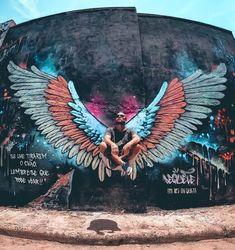 Graffiti Images, Best Graffiti, Graffiti Wall Art, Murals Street Art, Street Art Graffiti, Mural Art, Watercolor Paintings Abstract, Abstract Oil, Painting Art