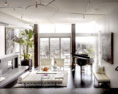 Living Room modern small house architecture Design Ideas, Pictures, Remodel and Decor Piano Living Rooms, Piano Room, Living Room Modern, Living Room Designs, Living Room Decor, Living Area, Living Spaces, Bedroom Decor, Architecture Design