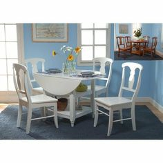 5-Piece Cottage Drop Leaf Dining Set - this also in my buying list. I like its drop leaf feature that could save space. It would be perfect if the chairs are padded.