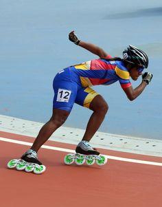 Colombia comenzó con oro y plata en el patinaje de velocidad Roller Derby Skates, Roller Skate Shoes, Roller Skating, Inline Speed Skates, Athletic Models, Human Poses, Extreme Sports, Pose Reference, Workout