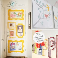 Okay, I could actually do this. Perfect for a little gallery in each kids' room.
