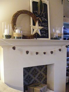 If you don't have a real mantel, why not make a fake one?