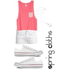 Spring Cloths by girlthingss on Polyvore featuring polyvore, fashion, style, Le Temps Des Cerises, Converse and Karen Walker